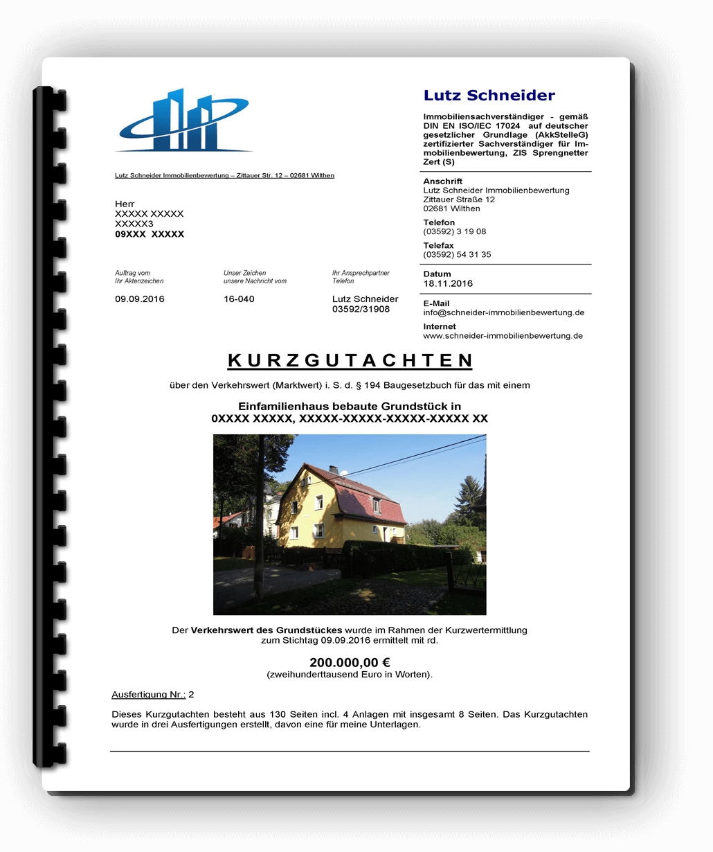 Immobilienbewertung Cavertitz 13