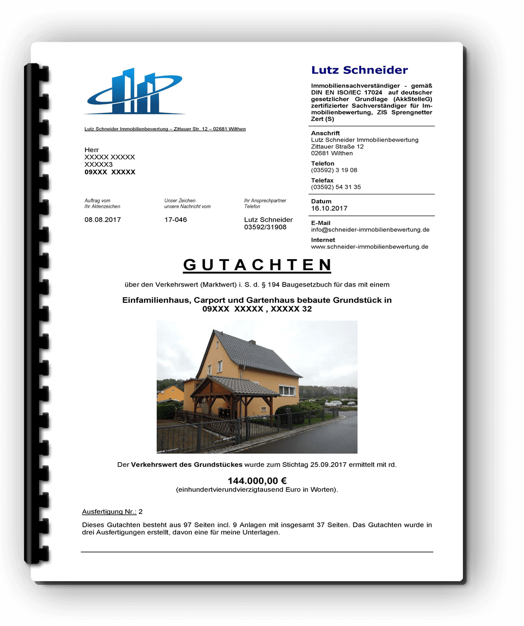 Immobilienbewertung Cavertitz 12