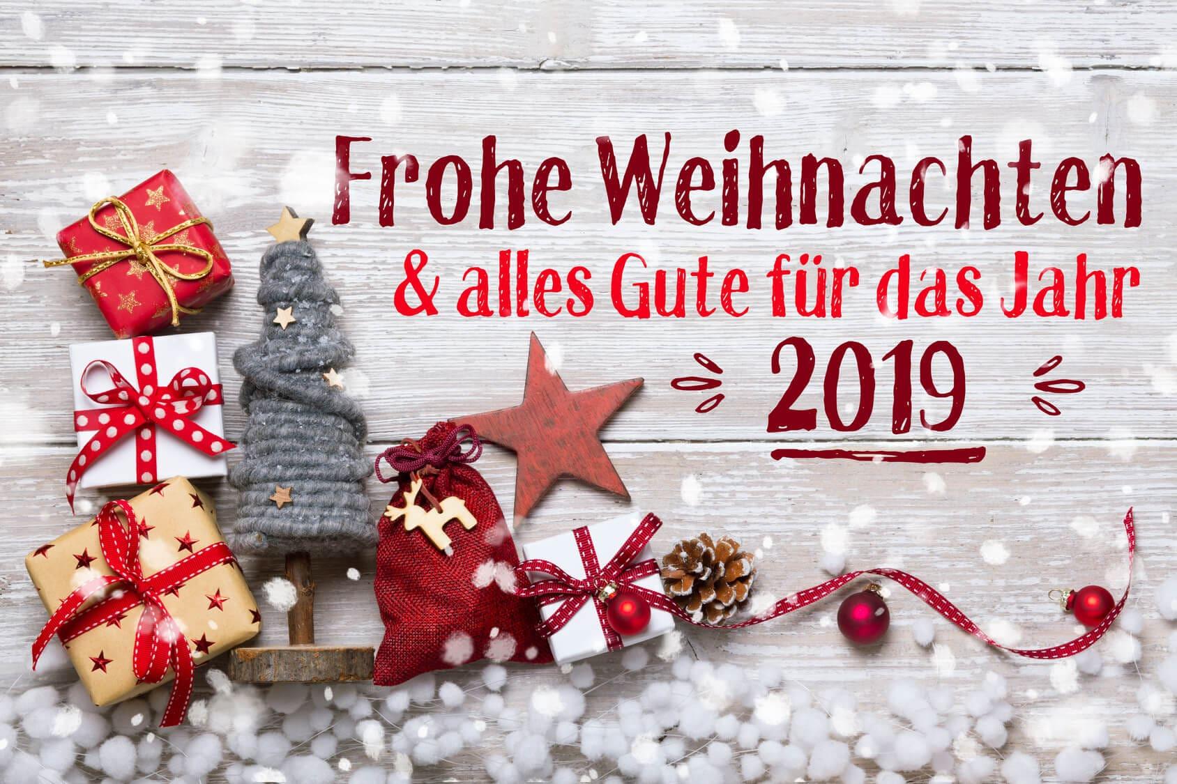 Frohe Weihnachten und alles Gute für das Jahr 2019 1