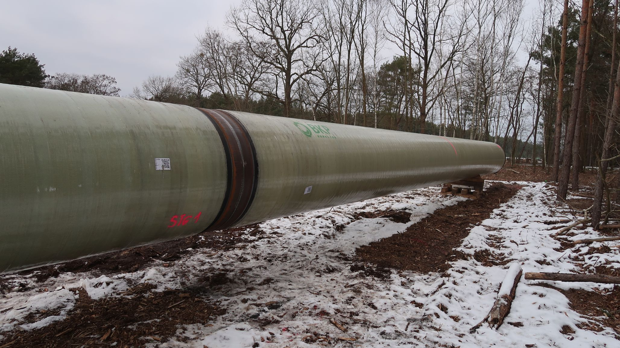 Bau der EUGAL-Ferngasleitung in Brandenburg im vollen Gange 8