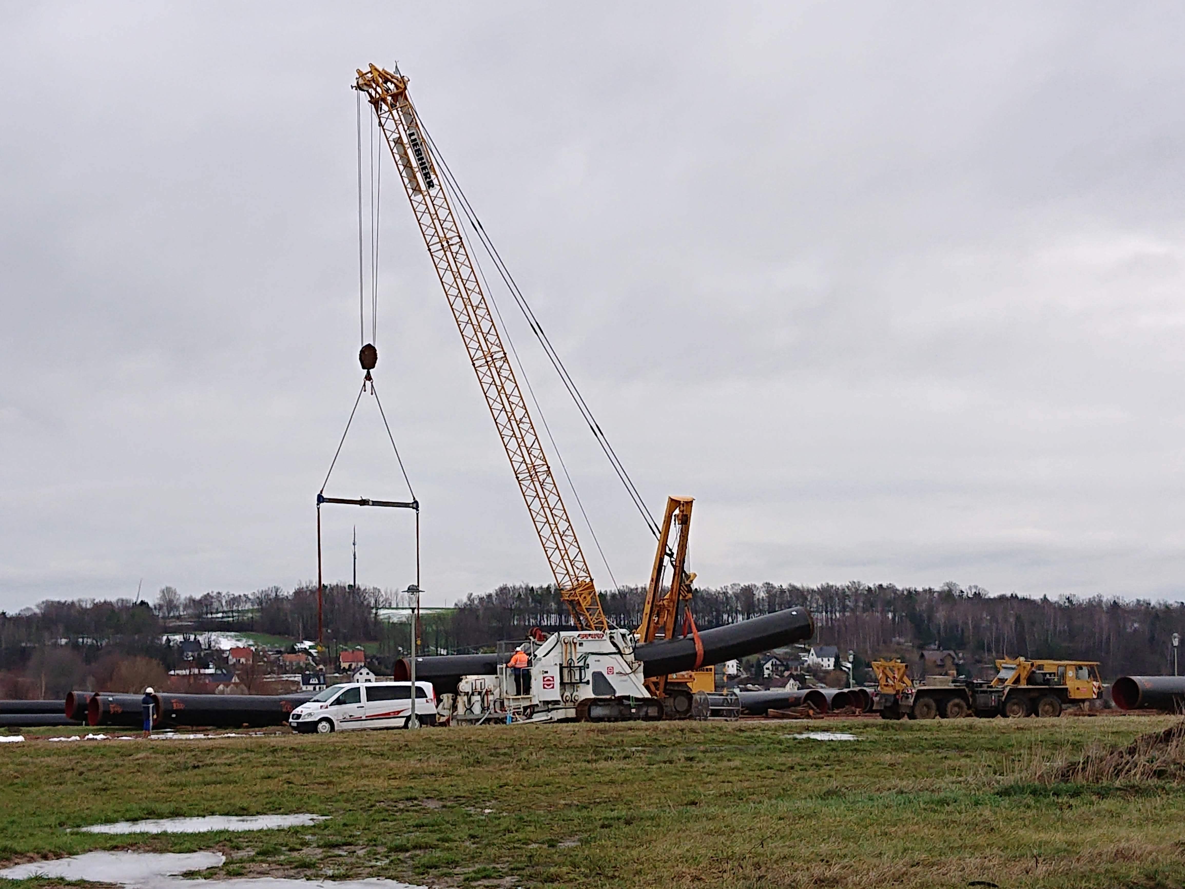 Bau der Eugal-Erdgasleitung hat in Sachsen begonnen 1